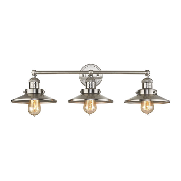 Lovecup Farmhouse Satin Nickel Bathroom Vanity 3-Lights