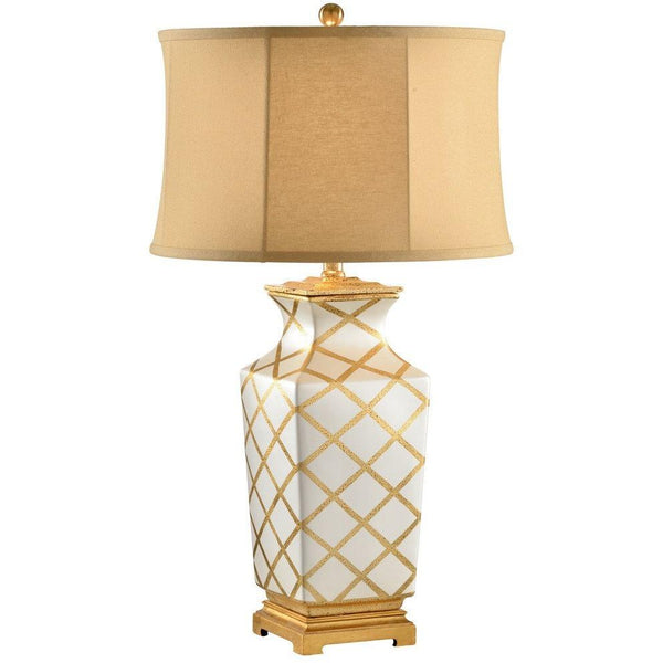 Chelsea House Gold Diamonds Table Lamp 68539