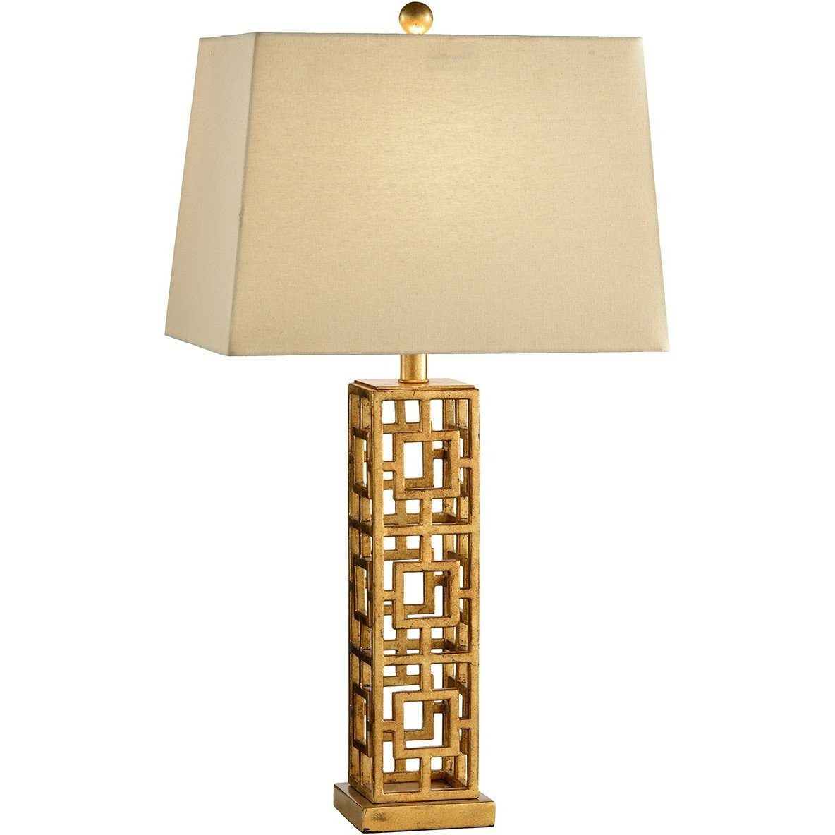 Chelsea House Squares In Squares Gold On Iron Table Lamp - LOVECUP