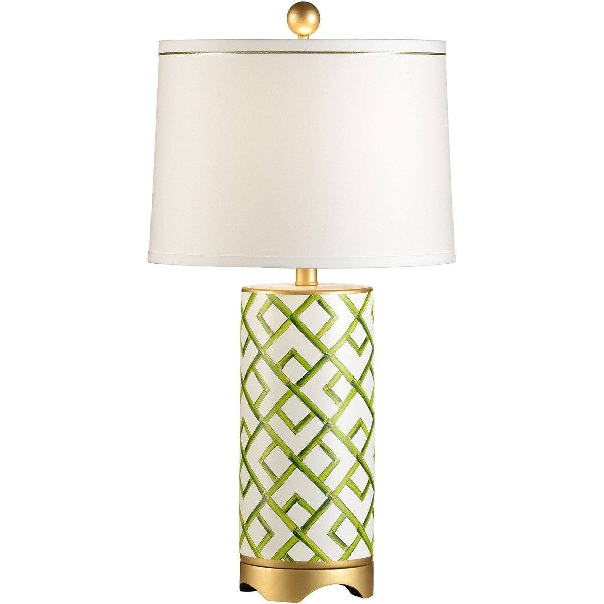 Chelsea House Bamboo Squares Gold Table Lamp - LOVECUP