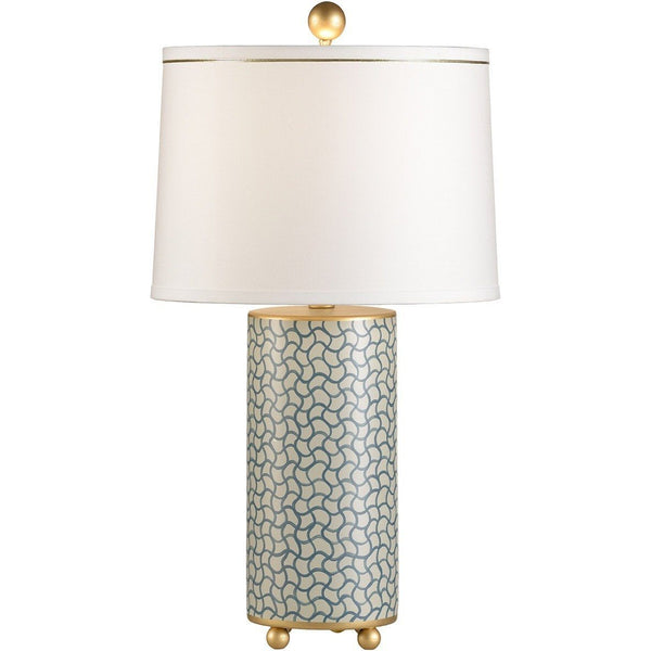 Chelsea House Wavy Lines Gold Table Lamp 68563