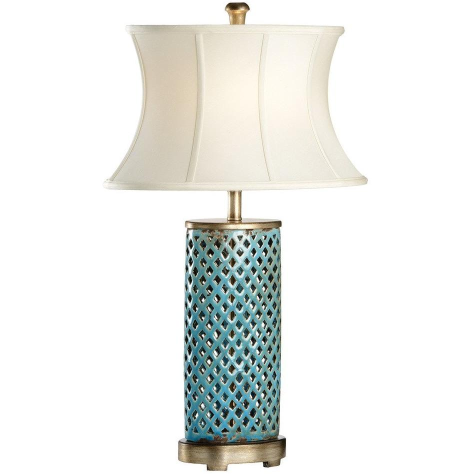 Chelsea House Turquoise Glaze Ceramic Walker Table Lamp 68677 - LOVECUP