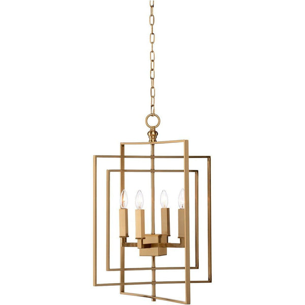 Chelsea House Four Lights Cube Small Chandelier 68745