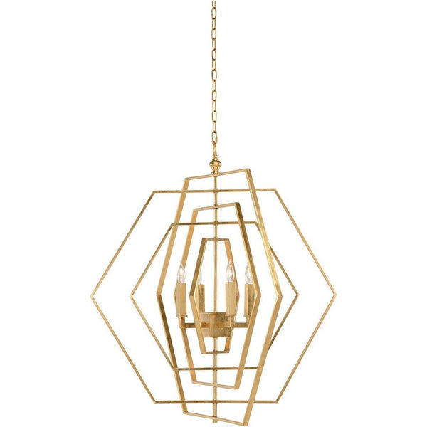 Chelsea House Four Lights Hexagon Chandelier 68746