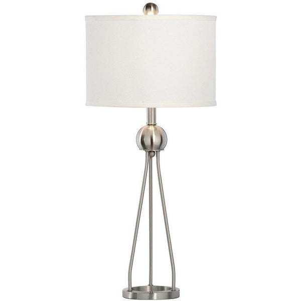 Chelsea House Duncan Nickel Brushed Table Lamp 68876