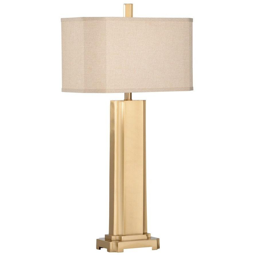 Chelsea House Fort Myers Brushed Brass Table Lamp 68879 - LOVECUP