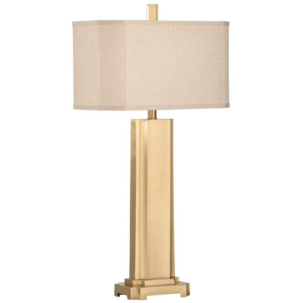 Chelsea House Fort Myers Brushed Brass Table Lamp 68879