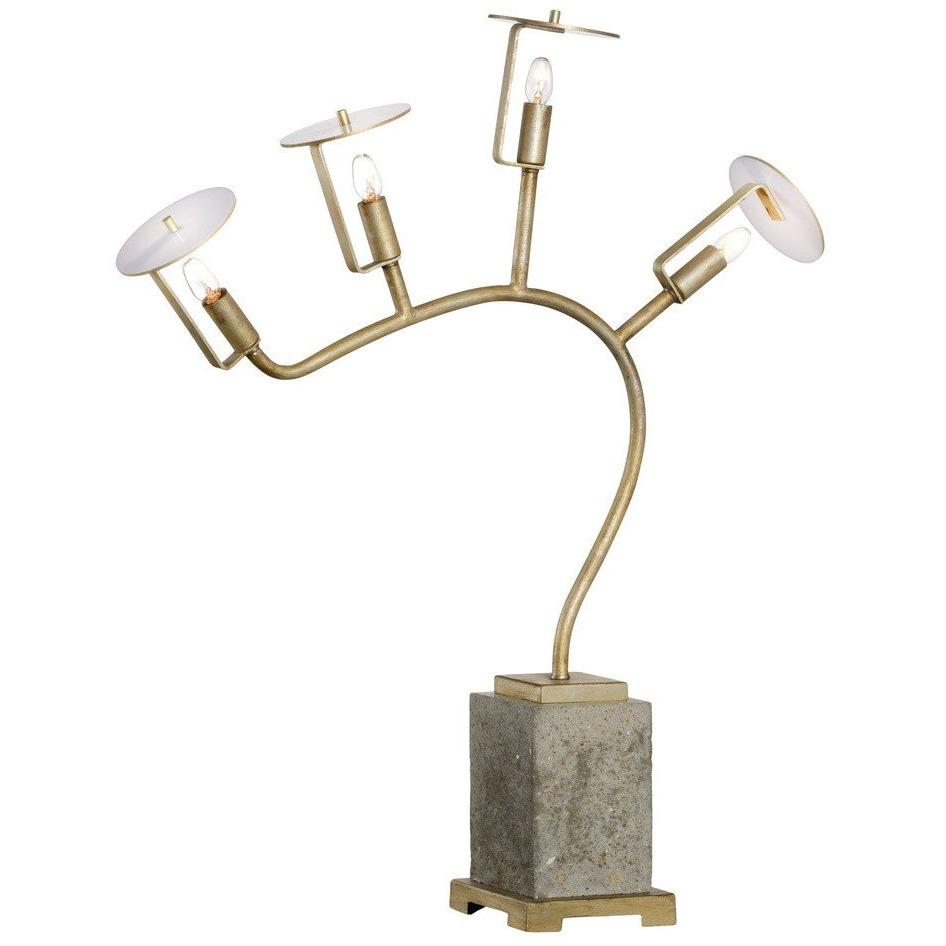 Chelsea House Orchid Gold 4-Light Table Lamp 69019 - LOVECUP