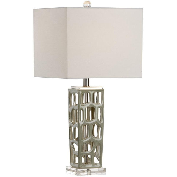 Chelsea House Square Moss Table Lamp 69074