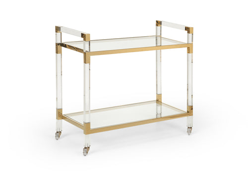 Chelsea House Acrylic Bar Cart 383848