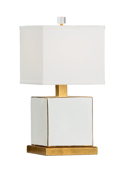 Chelsea House Block Table Lamp - White Classic 69236