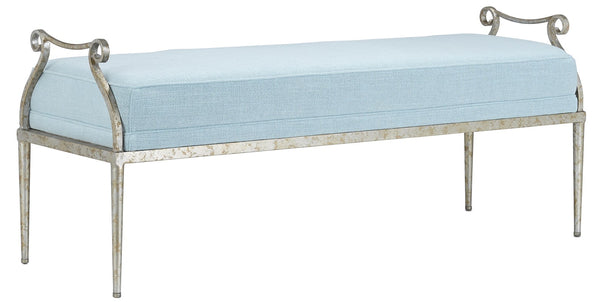 Currey and Company Genevieve Spa Silver Bench 7000-0002