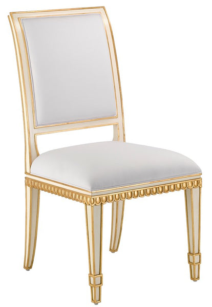 Currey and Company Ines Muslin Ivory Chair 7000-0151