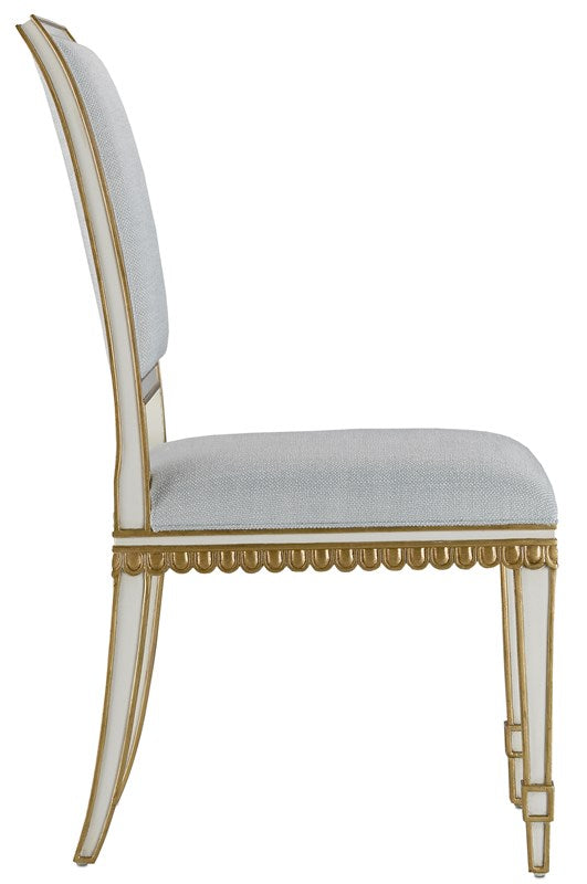 Currey and Company Ines Mist Ivory Chair 7000-0152
