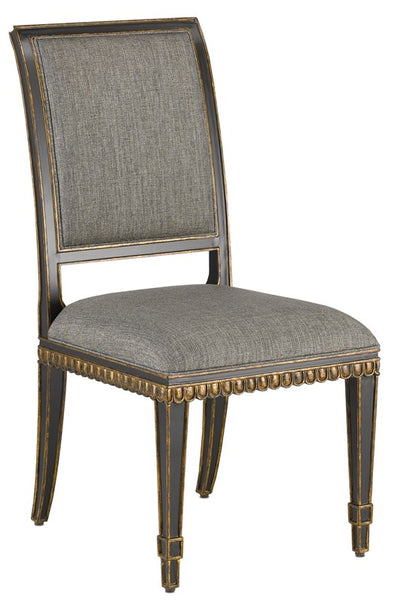 Currey and Company Ines Peppercorn Black Chair 7000-0163