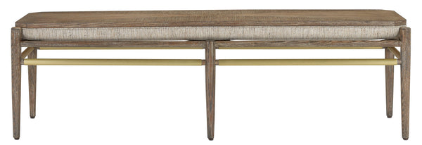 Currey and Company Visby Calcutta Pepper Bench 7000-0302