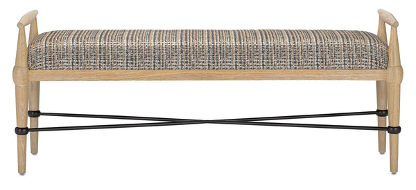 Currey and Company Perrin Tweed Natural Bench 7000-0352