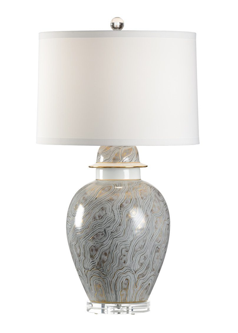 Chelsea House Gray Marblized Table Lamp 69101 - LOVECUP