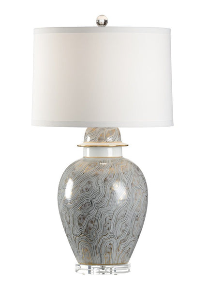 Chelsea House Gray Marblized Table Lamp 69101
