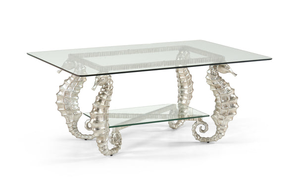 Chelsea House Seahorse Coffee Table Silver 381590