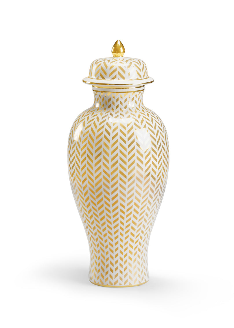 Chelsea House Herringbone Vase - Gold 383558