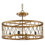 Currey and Company Crisscross Pendant/Semi-Flush 9000-0050 - LOVECUP