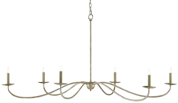 Currey and Company Saxon Chandelier, Silver 9000-0055