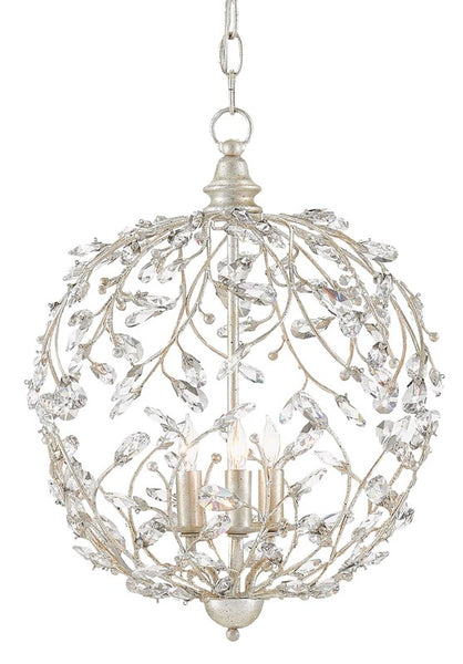 Currey and Company Crystal Bud Silver Orb Chandelier 9000-0076