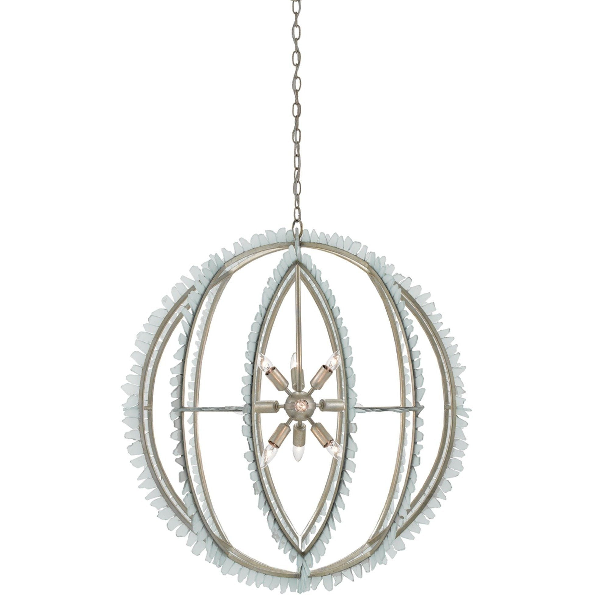 Currey and pany Saltwater Orb Chandelier 9000 0210