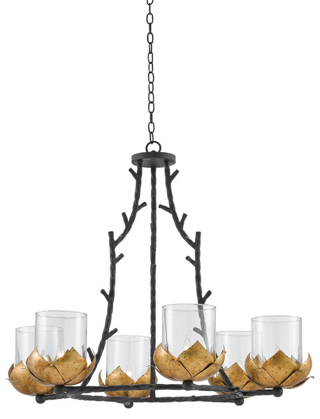 Currey and  Company Water-Lily Chandelier 9000-0337