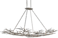 Currey and Company Rainforest Silver Chandelier 9000-0367