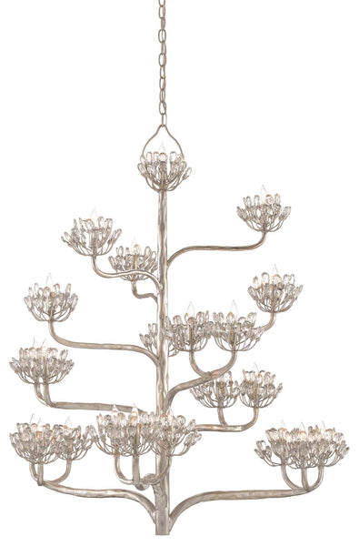 Currey and Company Agave Americana Chandelier, Silver 9000-0373