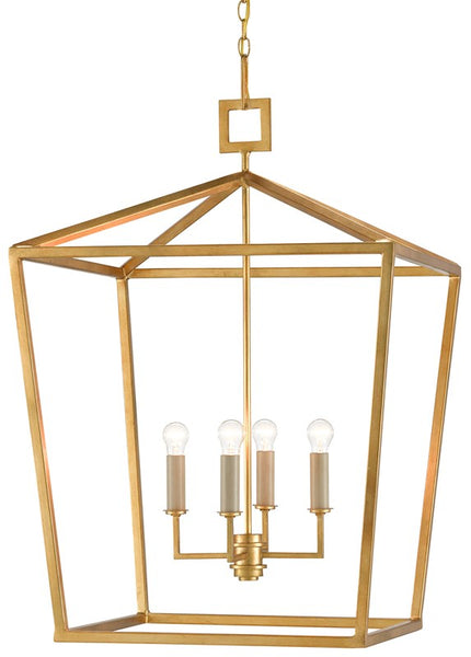 Currey and Company Denison Gold Large Lantern 9000-0405