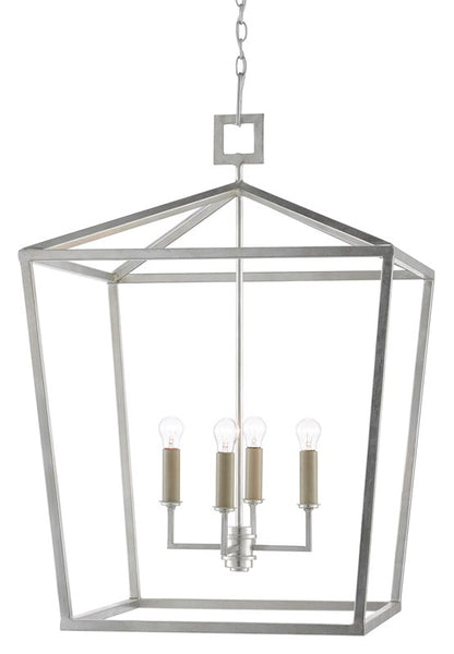 Currey and Company Denison Silver Large Lantern 9000-0415