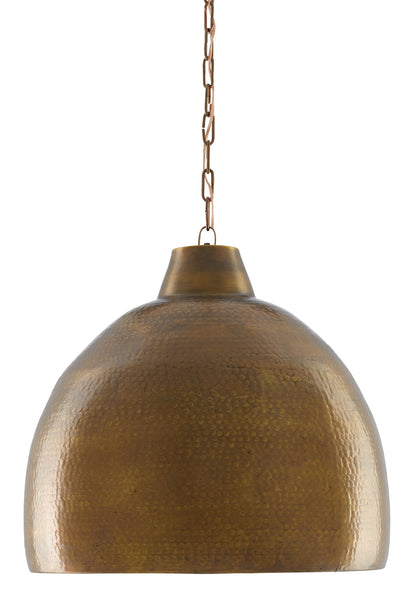 Currey and Company Earthshine Brass Large Pendant 9000-0425