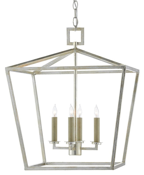 Currey and Company Denison Silver Medium Lantern 9000-0459