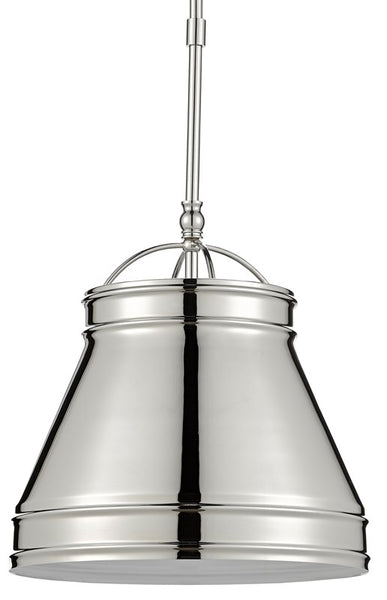 Currey and Company Lumley Nickel Pendant 9000-0485