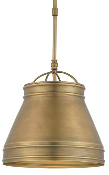 Currey and Company Lumley Brass Pendant 9000-0488