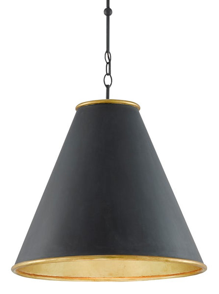 Currey and Company Pierrepont Black Large Pendant 9000-0535