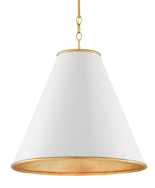 Currey and Company Pierrepont White Large Pendant 9000-0537