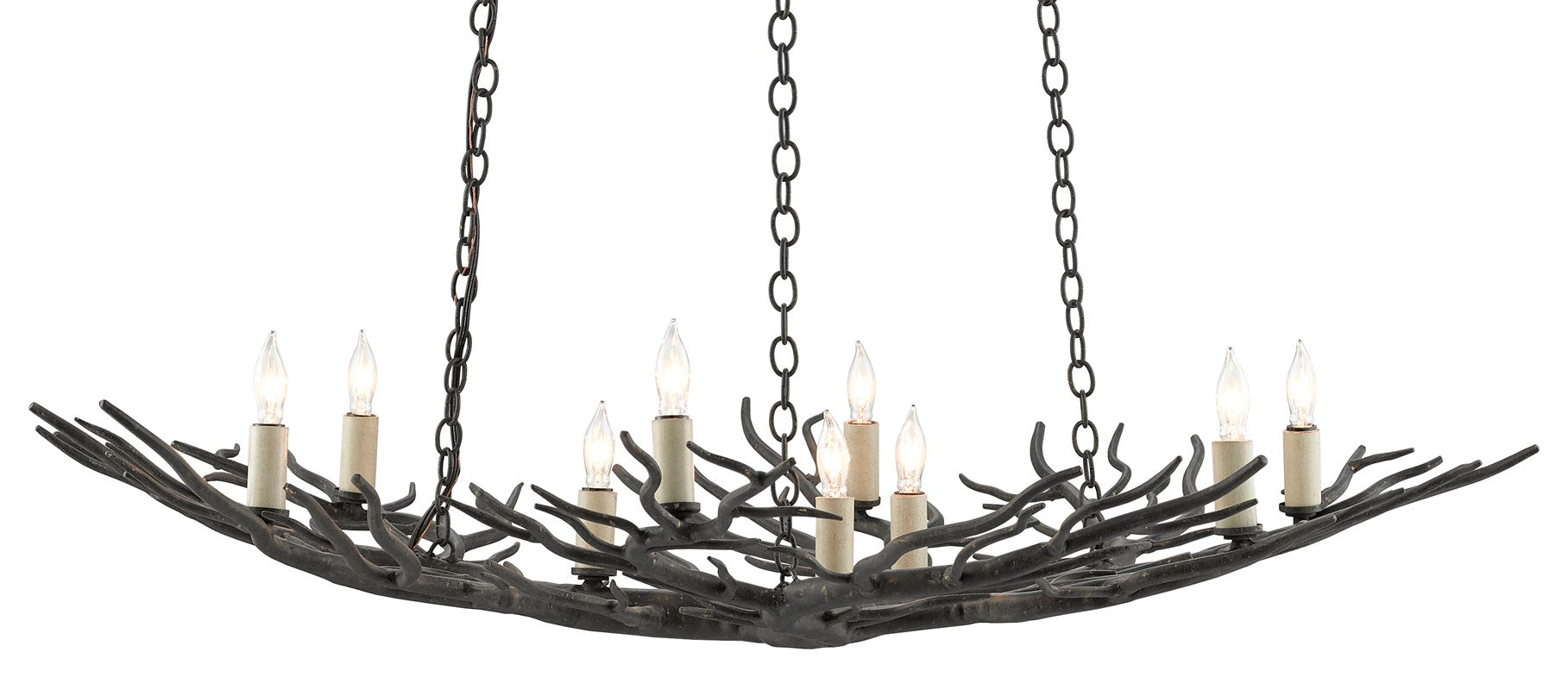 Currey and Company Rainforest Bronze Small Chandelier 9000-0555