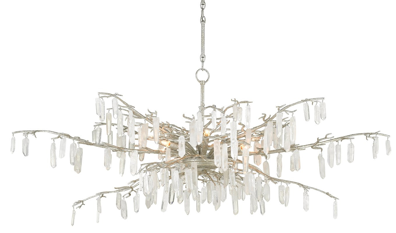 Currey and Company Forest Dawn Silver Chandelier 9000-0608