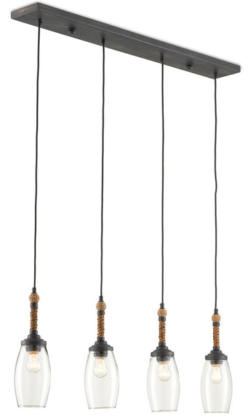 Currey and Company Hightider Rectangular Chandelier 9000-0651