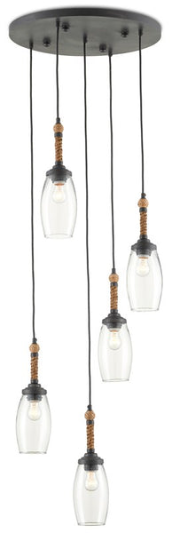 Currey and Company Hightider Multi-Pendant 9000-0652