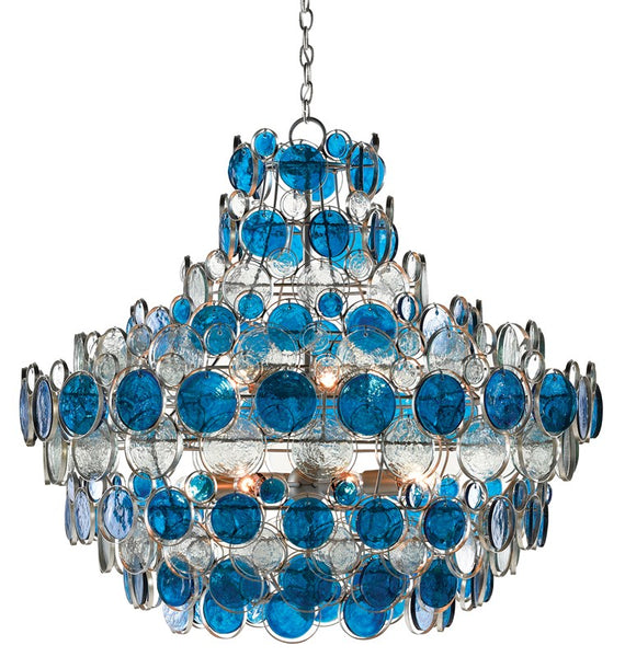 Currey and Company Galahad Blue Chandelier 9000-0723