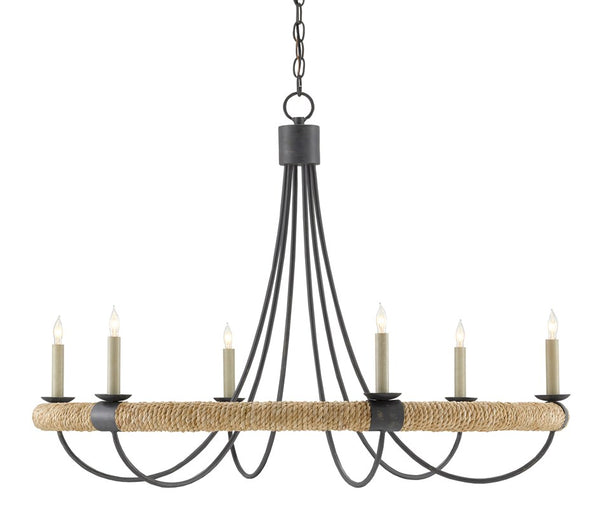 Currey and Company Shipwright Chandelier 9000-0754