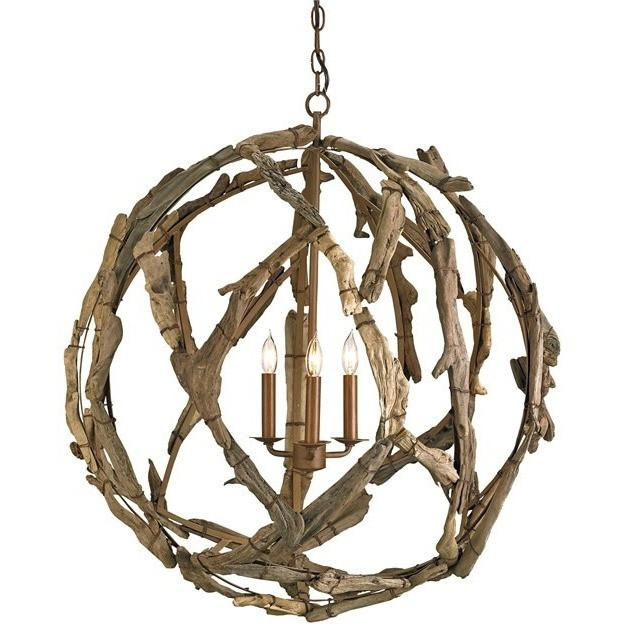 Currey and Company Driftwood Orb Chandelier 9078 - LOVECUP