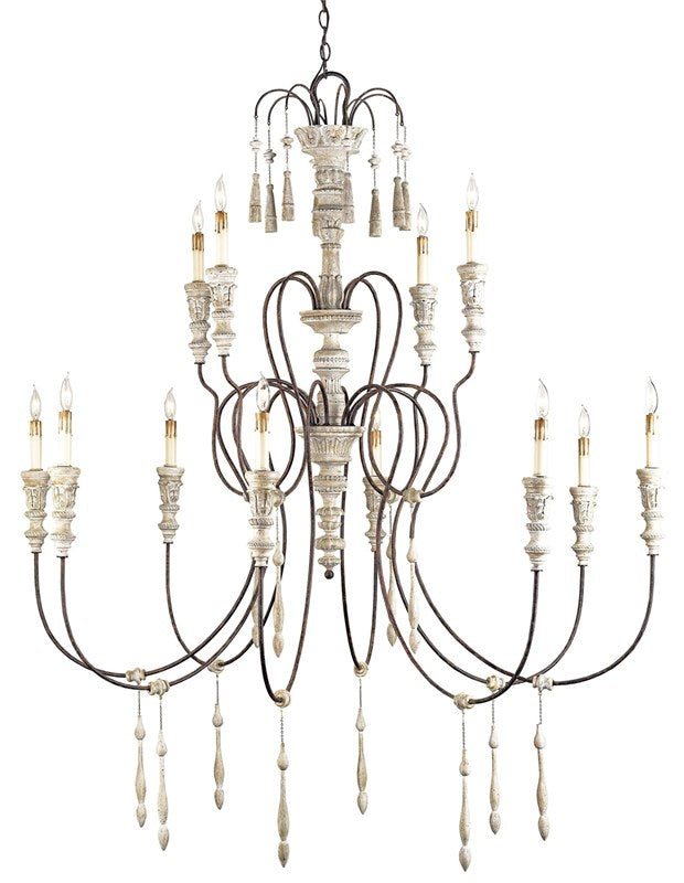 Currey and Company Hannah Chandelier, Large 9117 - LOVECUP