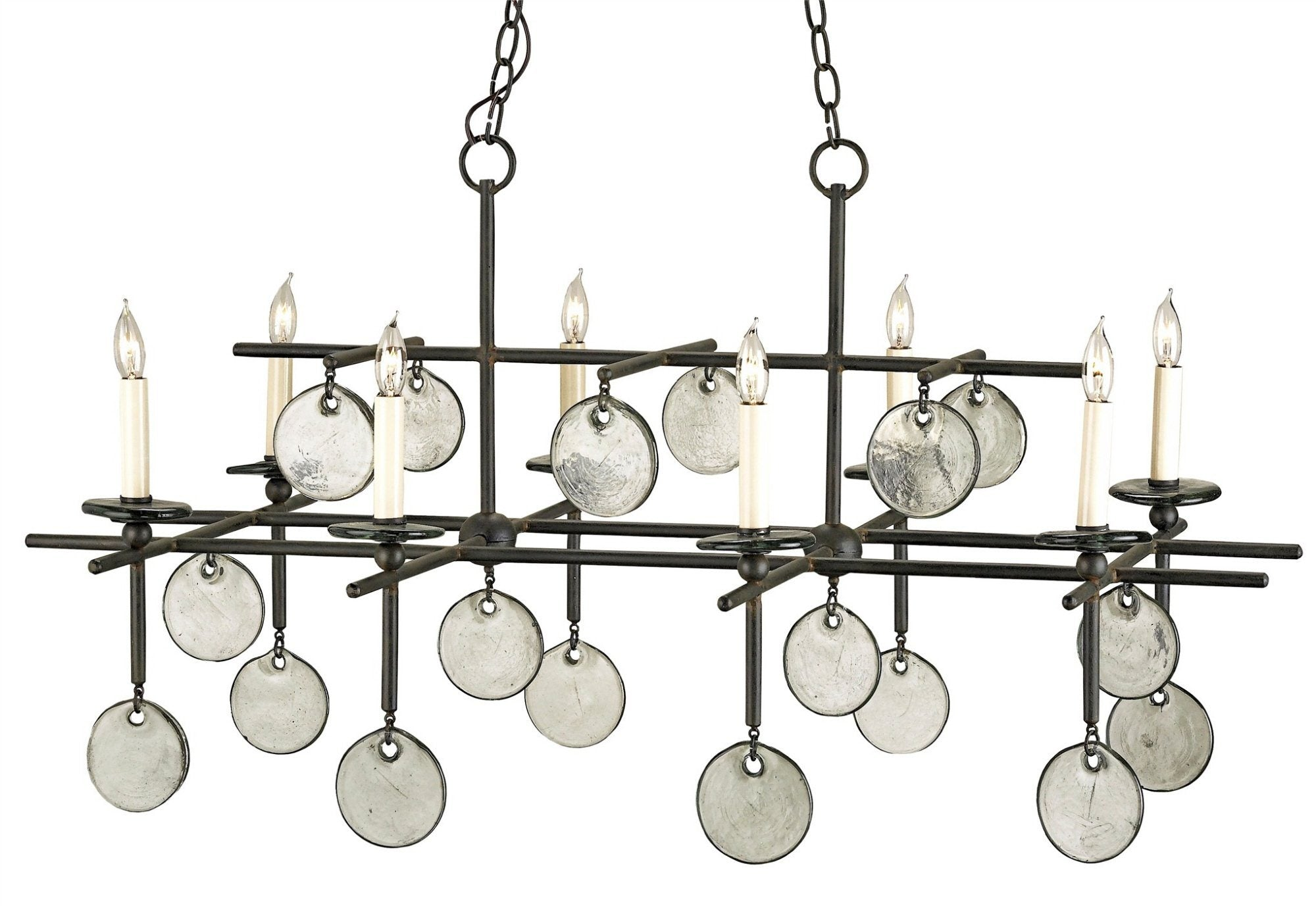 Currey and Company Sethos Rectangular Chandelier 9124 - LOVECUP