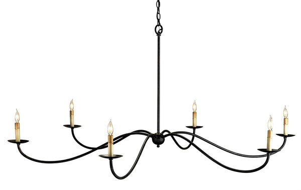 Currey and Company Saxon Black Chandelier 9267